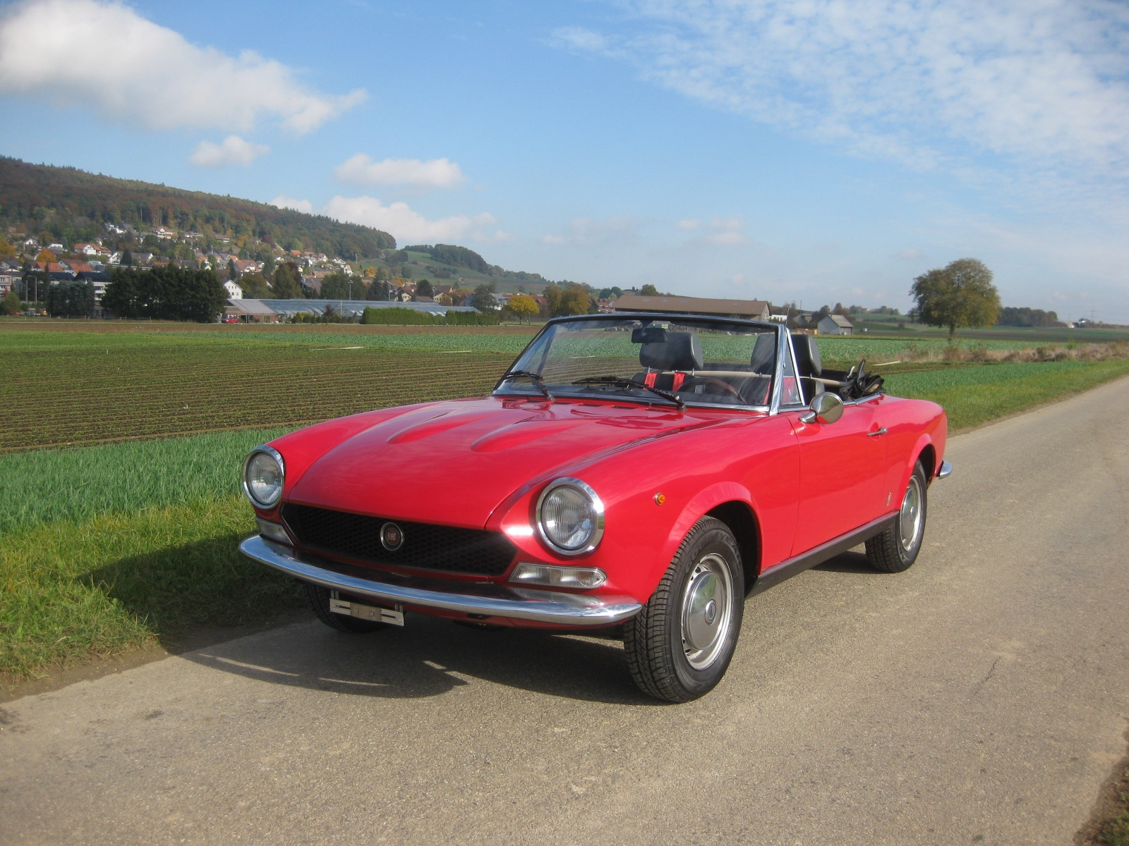 touring garage ag fiat 124 spider 1600 bs1 sport cabriolet 1973. Black Bedroom Furniture Sets. Home Design Ideas