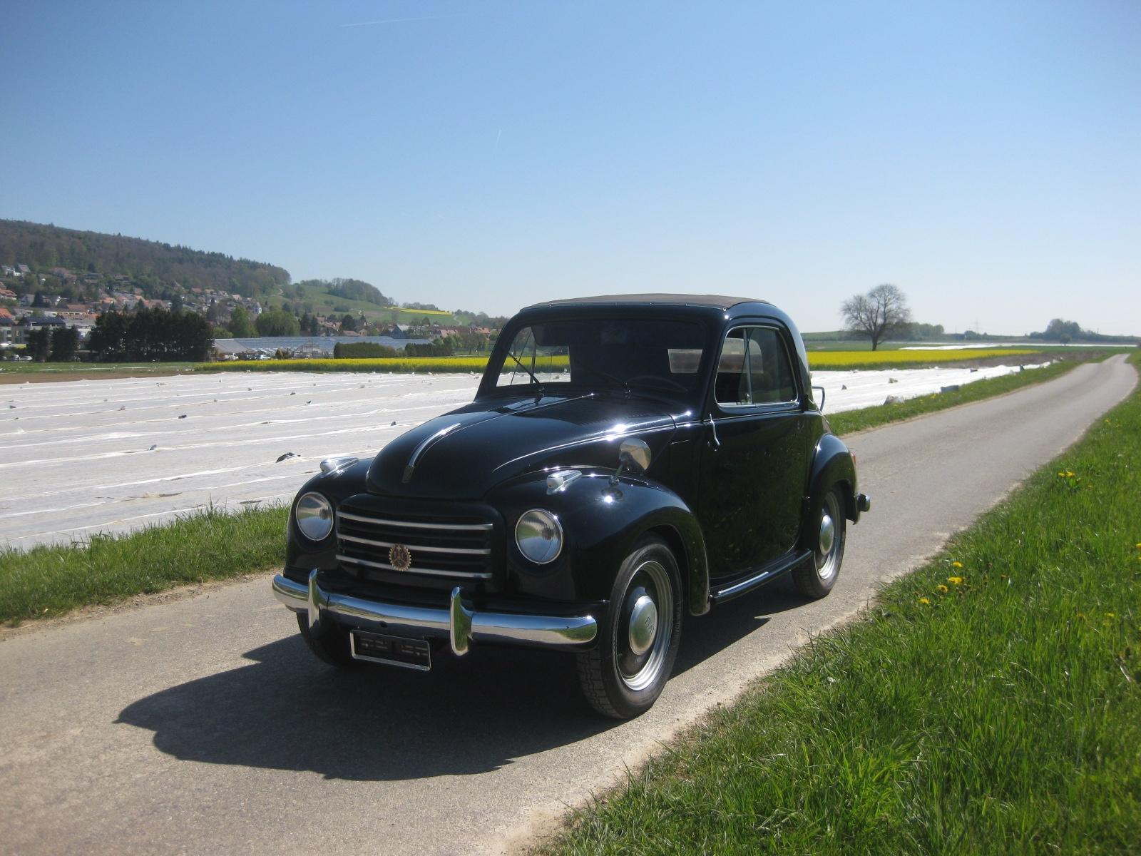 touring garage ag fiat 500 topolino cabriolet 1953. Black Bedroom Furniture Sets. Home Design Ideas